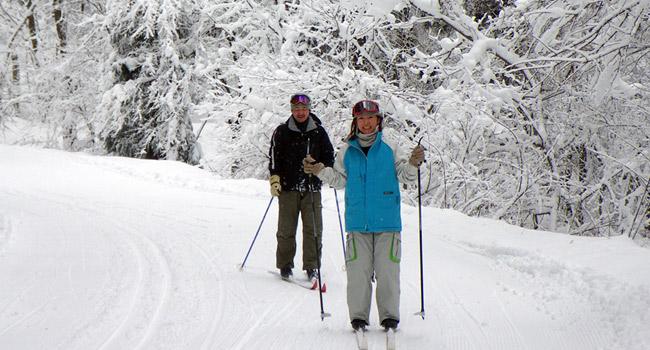 白馬越野滑雪