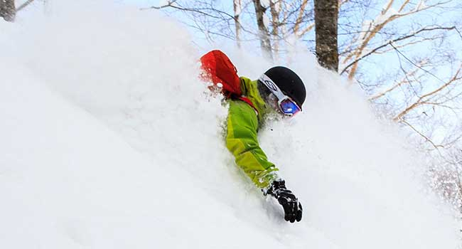 Enjoy deep Hakuba snow on one of our Backcountry Tours