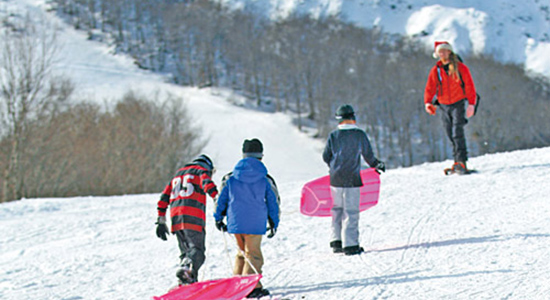 xmas day snowshoe tours in hakuba