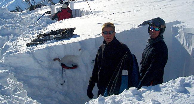 雪崩講習会AST2+MAT