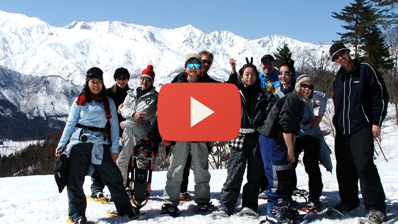 group half-day snowshoe tours in hakuba