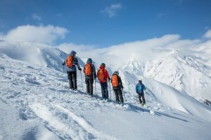 intro to backcountry tour in hakuba